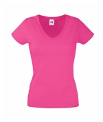 Футболка Fruit Lady-Fit Valueweight V-Neck T - 61-398-0