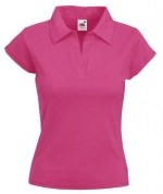 Футболка LADY-FIT RIB POLO - 63-502-0